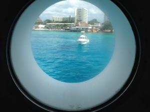Cozumel, cruising, porthole
