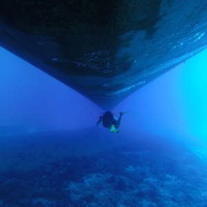 ship under water